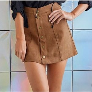 Faux suede skirt!
